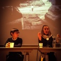 """Linda Dorigo e Nausicaa Goiulia Bianchi / Festival della Fotografia Eticca, serata sul tema """"fotografia e religiosità"""" da noi organizzata come incursione nel festival"""
