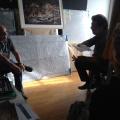 Con Franco Pagetti /Agenzia VII, durante l'intervista per Phom