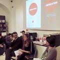 """La serata legata agli """"Appuntamenti con l'editoria"""" con Irene Alison e il suo e-Revolution in compagnia di Irene Opezzo, allora photo editor de La Stampa."""