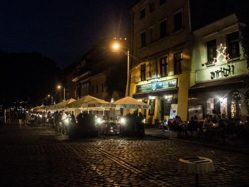KAZIMIERZ BY NIGHT, POLAND - AUGUST 2015