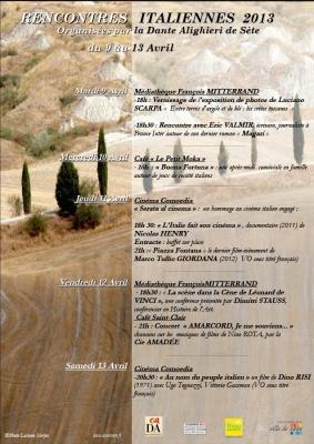Entre terre d'argile et de ble: les cretes toscanes -   9 - 14 - avril 2013 -  Médiathèque F .Mitterrand - Sète, Francia