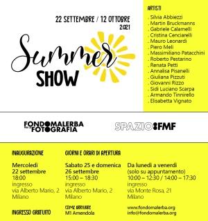 Summer Show 2021 - Dal 22 settembre al 12 ottobre - Fondo Malerba per la Fotografia -  Milano