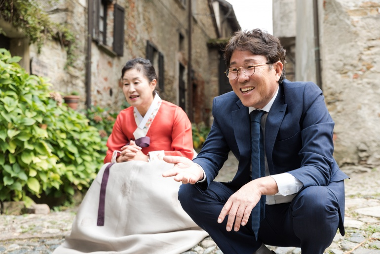 Luigi + Nayoung // Eleganza coreana nel Monferrato