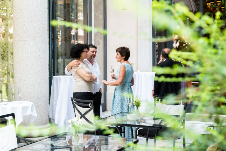 Andrea + Rapo // Gioia e colori tra Svizzera e Italia a Palazzo Parigi
